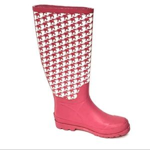 Lilly Pulitzer Pink Elephant Tall Rain Boots 6